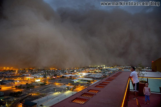 Apocalyptic Dust Storm Swallows Phoenix By Mark Rebilas