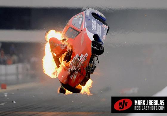 Nhra Pro Stock Car Crash Las Vegas