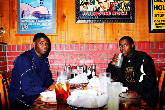 Adonis Thomas and Coach