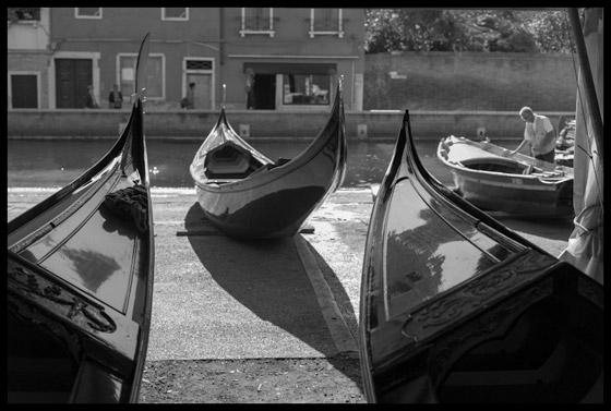 Gondolas at the Squero