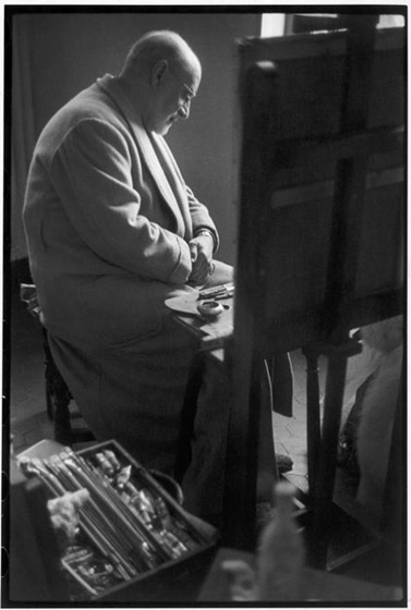 Henri Matisse at his home