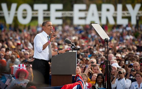 Obama - Biden rally