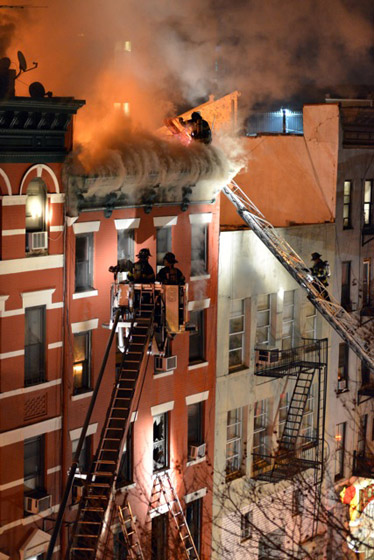 Fire on Spring St