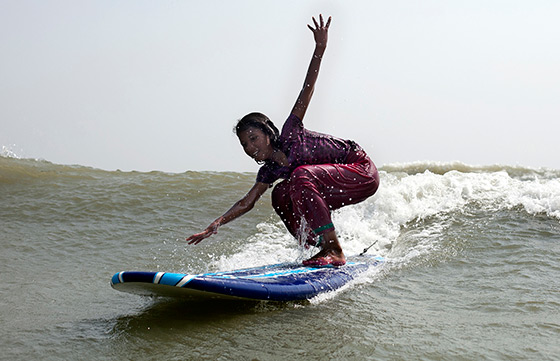 Surfing beach vendors in Bangladesh
