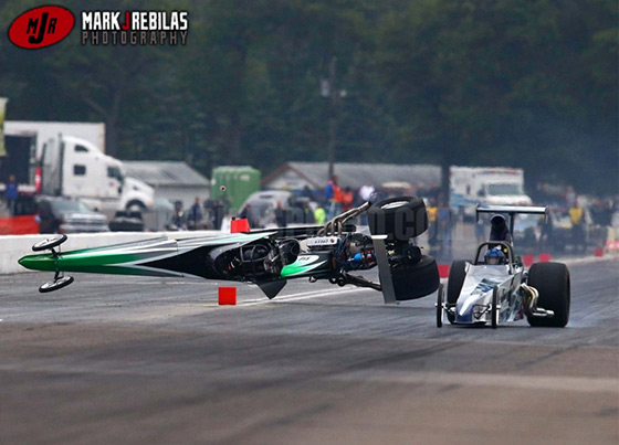 NHRA two car crash