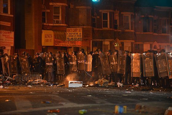 Rioting In Baltimore