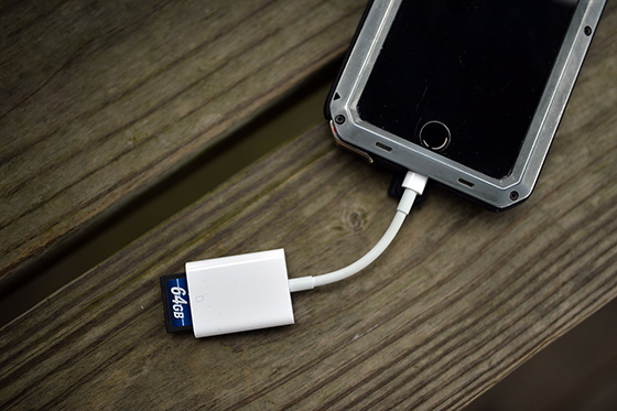 Apple Lightning to SD card