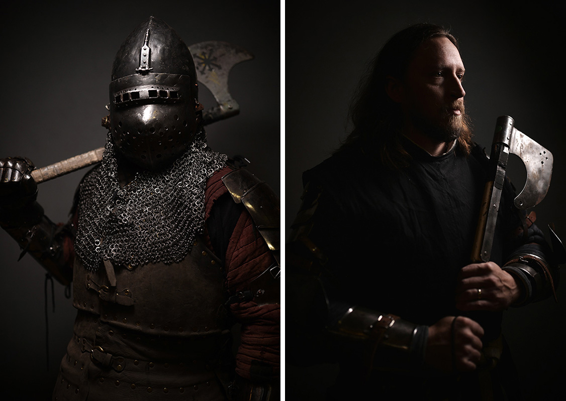 Portraits at the Armored Combat League World Cup - by C S  Muncy