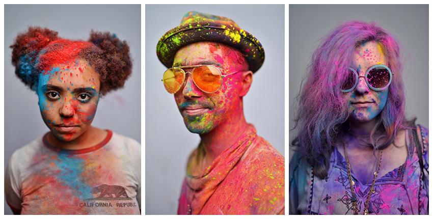 Holi portraits