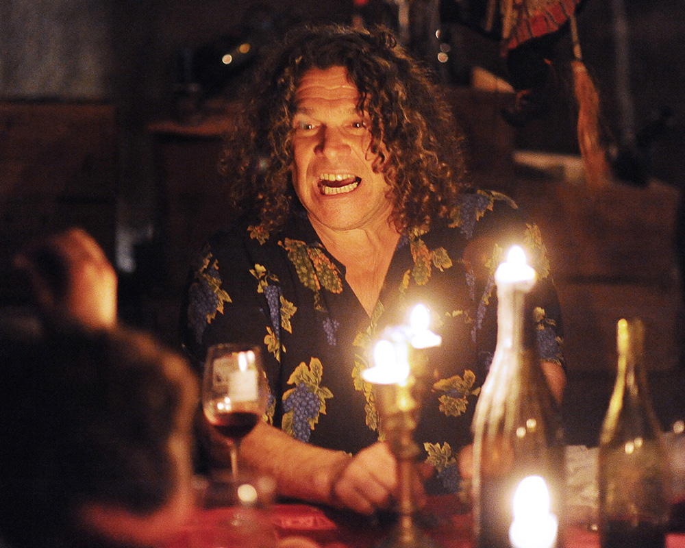 Winemaker Gary Pisoni entertains guests in the cellar of his farmhouse in Gonzales, Calif. in 2010.