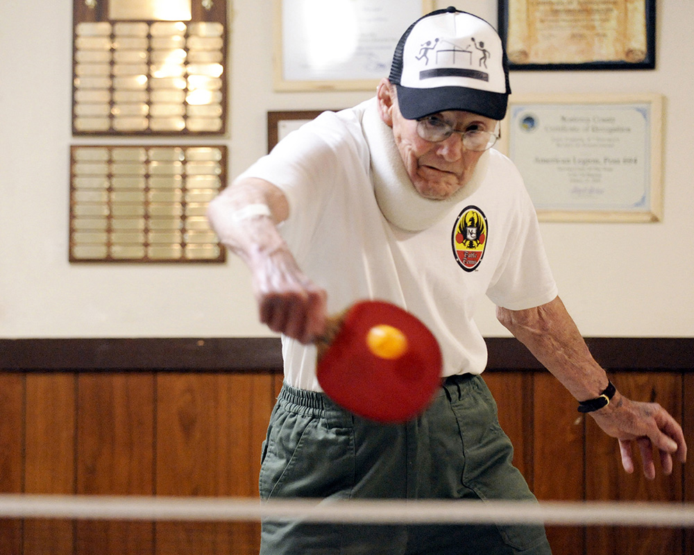 In 2009, 85-year-old Bill Brin played every week at the Marina Ping-Pong Club in Marina, Calif.