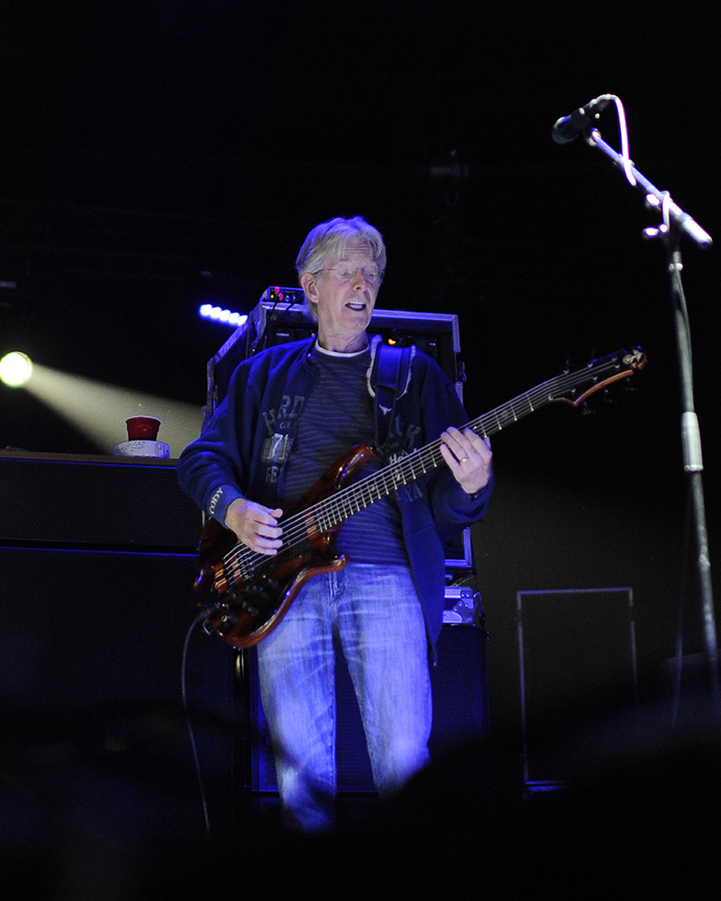 Phil Lesh performs at the Monterey International Pop Festival. Lesh played with The Grateful Dead at the original festival.