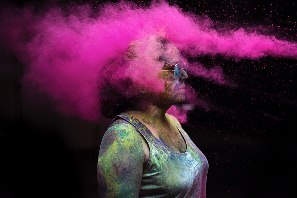 Portraits frm the Holi Festival of Colors